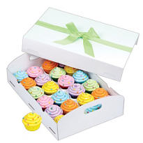 White Folding Tray Cupcake Box
