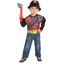 Child Muscle Fireman Accessory Kit
