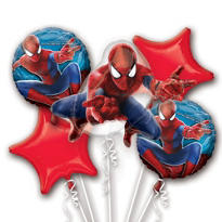 Amazing Spider-Man Balloon Bouquet 5pc