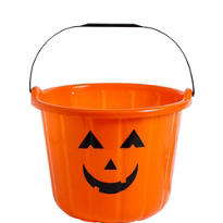 Orange Jack-o'-Lantern Treat Bucket