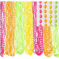 Black Light Neon Bead Necklaces 50ct