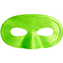 Black Light Neon Green Fabric Eye Mask