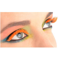 Black Light Neon Orange Tinsel Eyelashes