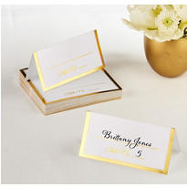 Gold Border Place Cards 50ct