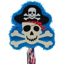 Pull String Skull and Crossbones Pinata