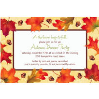 Autumn Day Custom Invitation
