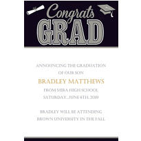 Graduating Class Custom Announcement