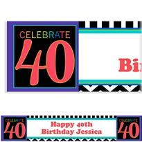 40th Celebration Custom Banner