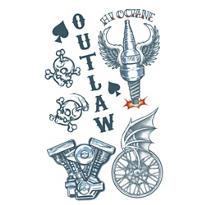 Outlaw Biker Tattoos 1 Sheet