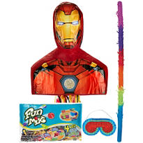 Pull String Iron Man Pinata Kit