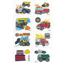 Tonka Truck Tattoos 1 Sheet