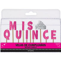 Mis Quince Quinceanera Birthday Candle Picks 10ct