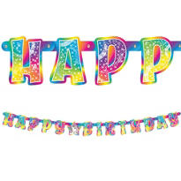 Lisa Frank Rainbow Horse Birthday Banner