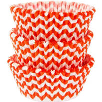 Orange Chevron Baking Cups 75ct