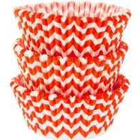 Orange Chevron Baking Cups 75ct