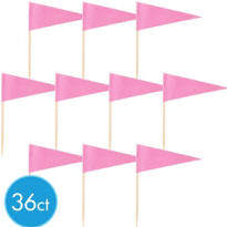 Pink Cupcake Picks 36ct