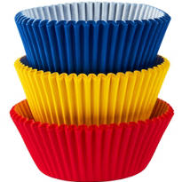 Primary Colors Baking Cups 75ct