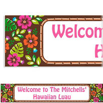 Summer Luau Custom Banner