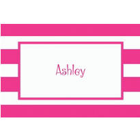 Pink Cabana Stripe Custom Thank You Note