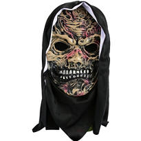 Hooded Horror Zombie Mask
