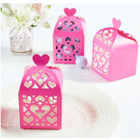 Bright Pink Lantern Favor Boxes