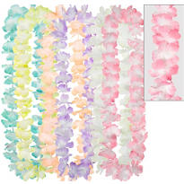 Pastel Flower Leis 6ct