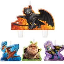 How to Train Your Dragon Birthday Candles 4ct
