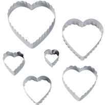 Heart Fondant Cutters 6pc