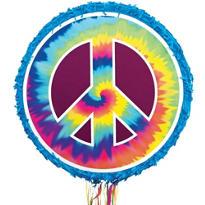 Tie-Dye Peace Sign Pinata