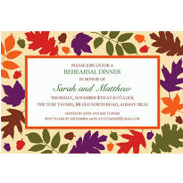 Autumn Warmth Custom Invitation