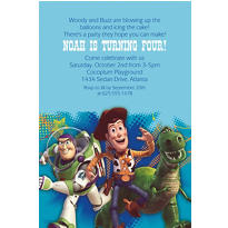 Toy Story Power Up Custom Invitation