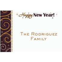 Sparkling New Year Custom Thank You Note