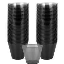 Black Plastic Cups 72ct