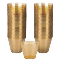 Gold Plastic Cups 72ct