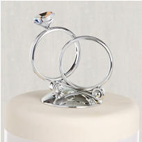 Rings Wedding Cake Topper