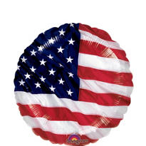 Foil Flying Colors Patriotic Balloon 18in