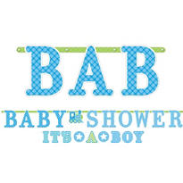 Boy Baby Shower Letter Banners 2ct - Welcome Little One