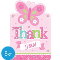 Girl Welcome Baby Thank You Notes 8ct - Welcome Little One