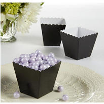 Black Scalloped Favor Boxes 100ct
