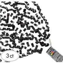 Black Confetti Party Poppers 3ct