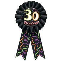 30 Rocks 30th Birthday Award Ribbon