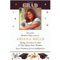 Custom Festive Grad Photo Invitations