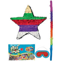 Foil Multicolor Star Pinata Kit