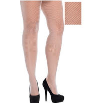 White Fishnet Stockings Plus Size