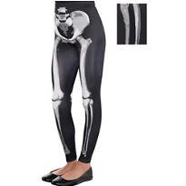 Child Skeleton Leggings - Black & Bone