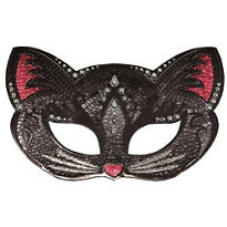 Sparkle Black Cat Masquerade Mask