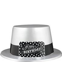Black & White Birthday Top Hat