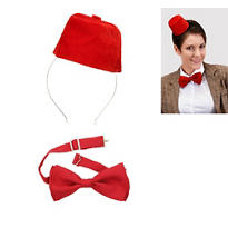 Doctor Who Mini Fez & Bow Tie