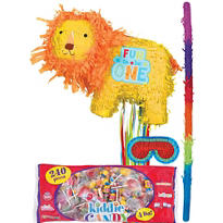 Pull String 1st Birthday Lion Pinata Kit