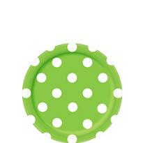 Kiwi Green Polka Dot Dessert Plates 8ct